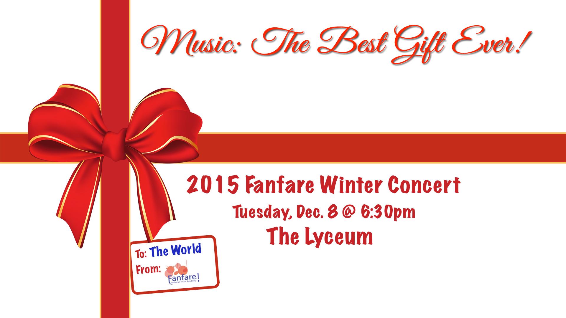 Fanfare Winter Concert